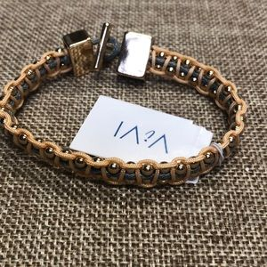 ViVI corded and beaded toggle bracelet! NWT